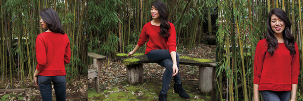 Covell Tee, knitdesigns by Tian, Flourish collection
