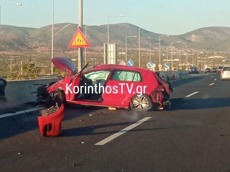 Σοβαρό τροχαίο στην Αθηνών - Κορίνθου στα Μέγαρα - Συγκρούστηκαν δύο αυτοκίνητα