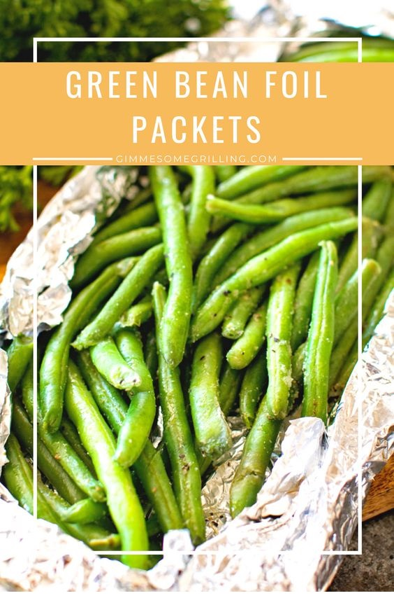 Grilled Green Bean Foil Packets