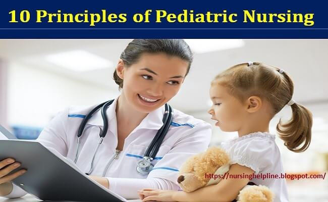 Principles of a pediatric nurse