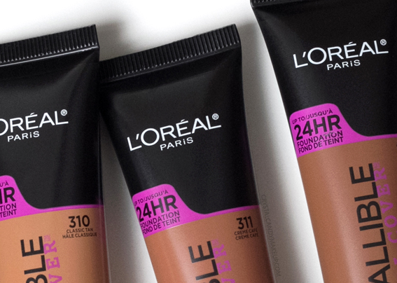 L'Oreal Infallible Total Cover foundation Review 310 311 312