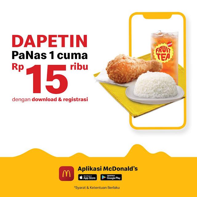 #McDonalds - #Promo Dapetin PANAS 1 Cuma 15K di Aplikasi McD