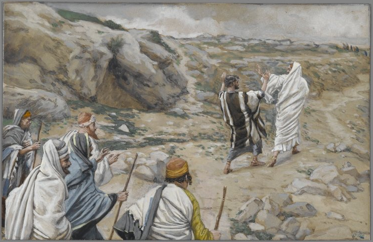 """Get thee behind Me, Satan"" - by James Tissot"