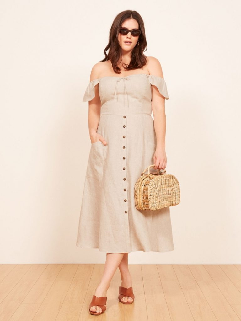 Reformation 'Francis' Dress in Sand