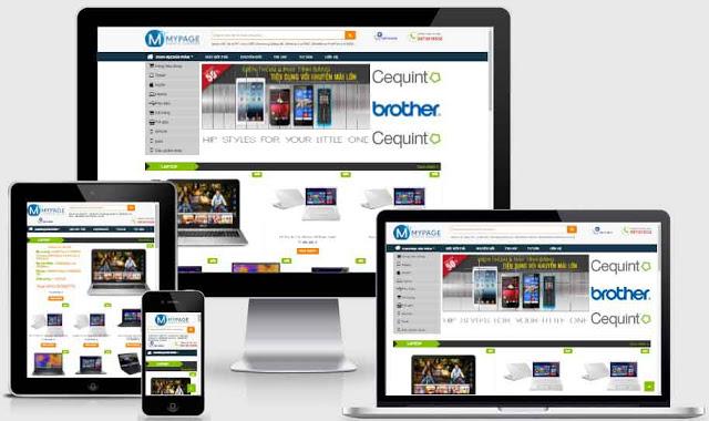 Mẫu Website Bán Hàng Shop Điện Tử