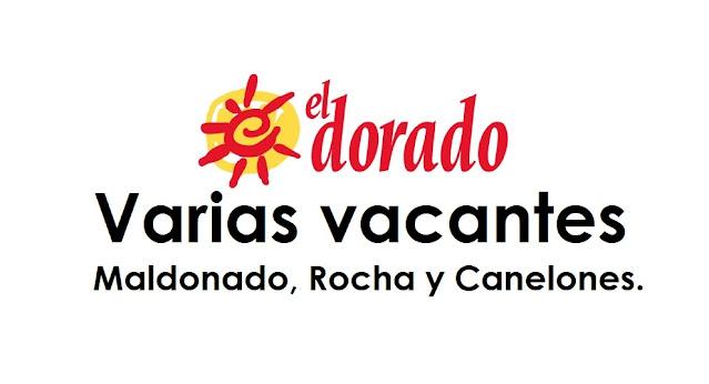 Supermercado el Dorado - Varias vacantes - Maldonado, Rocha y Canelones.