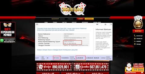 Selamat Kepada Member Setia WARUNGQQ Withdraw RP 11.500.000