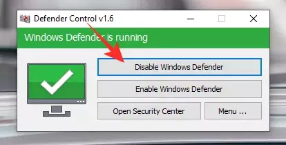 Disable Windows Defender