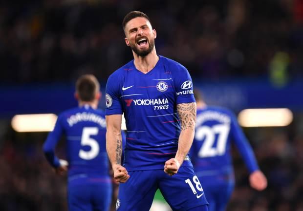 Chelsea striker Olivier Giroud