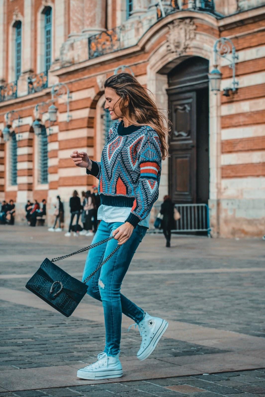 jersey estampado geométrico