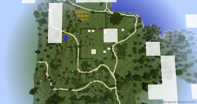 minecraft hobbiton build map bag end aerial