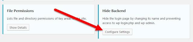 Configurar opciones para el cuadro Ocultar back-end
