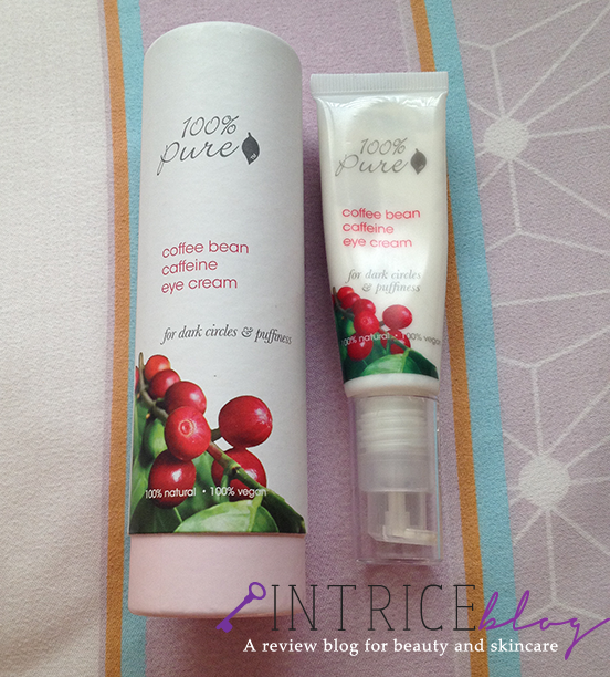 100% Pure Coffee Bean Caffeine Eye Cream - Photo Credit: Intrice Blog - intrice.blogspot.com