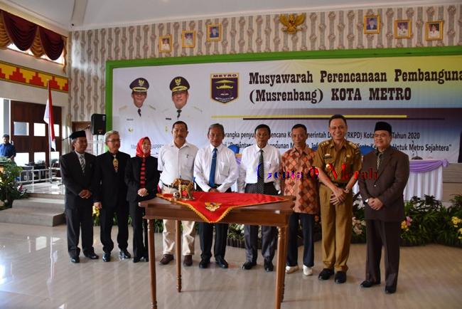 Gelar Musrenbang Tingkat Kota Metro, Ass I Pemprov Lampung Claim Keberhasilan Ridho Tinggi