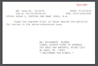 PFR denial post card notification from Texas Supreme Court