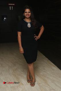 Actress Jyo Stills in Black Short Dress at Dwaraka Movie Audio Launch 0005