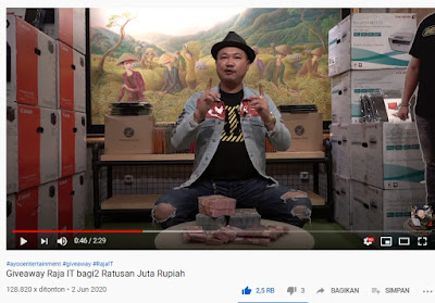 Giveaway Raja IT Youtube Basuki Surodjo