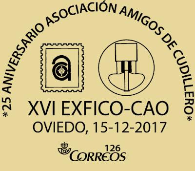 Matasellos de 25 Aniversario de Amigos de Cudillero en el Centro Asturiano