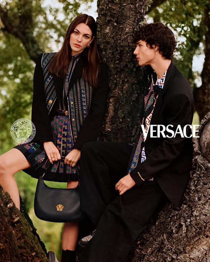 Supermodels Rianne Van Rompaey, Sora Choi and Vittoria Ceretti star in Versace's Pre Fall 2021 campaign