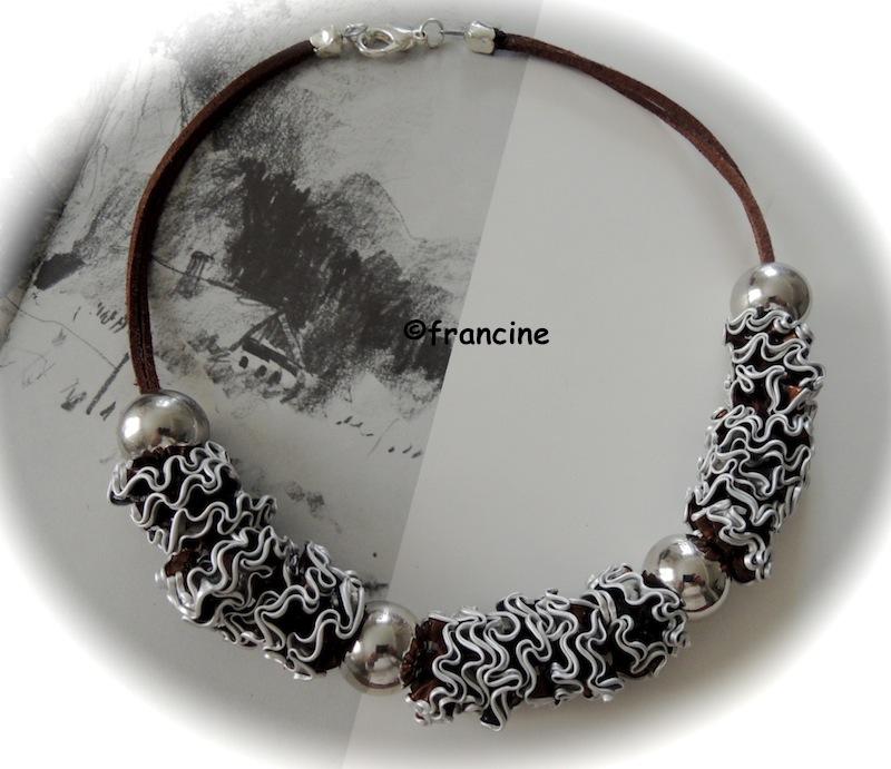 Bien connu FRANCINE BRICOLE : Colliers et bracelets à fleurettes en Capsules  JK77