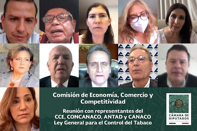 La Comisión de Economía analiza con el sector empresarial reformas a la Ley General para el Control del Tabaco
