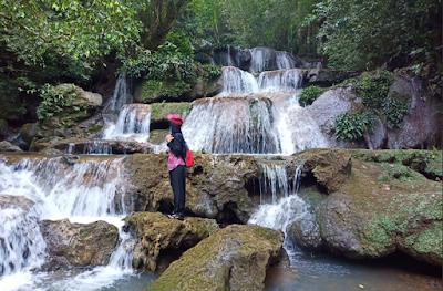 Wisata Aceh Besar - Keindahan Air Terjun Peucari di Jantho