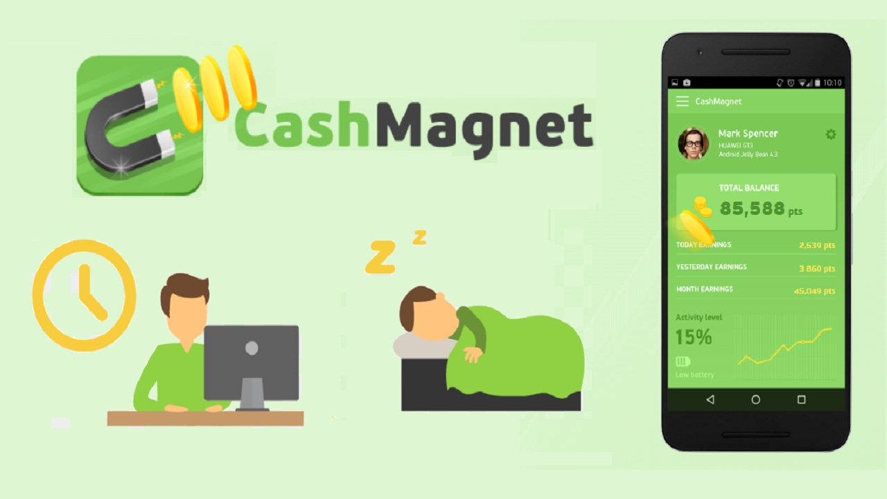 CashMagnet - Earn Money And Free Gift Cards While You Sleep