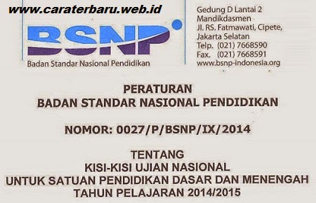 Kisi Kisi Soal UN 2015 Untuk SD, SMP, MTs, SMA, SMK