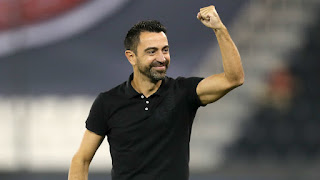 Xavi reaches the cup final with Al-Sadd as Grau and Abidal watch on