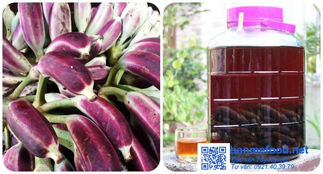 Rượu chuối hột rừng ngâm - Banmefood.net