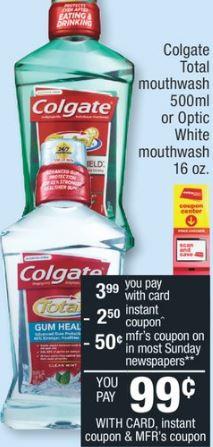 CVS Colgate Mouthwash Deal $0.74 – 7/21-7/27