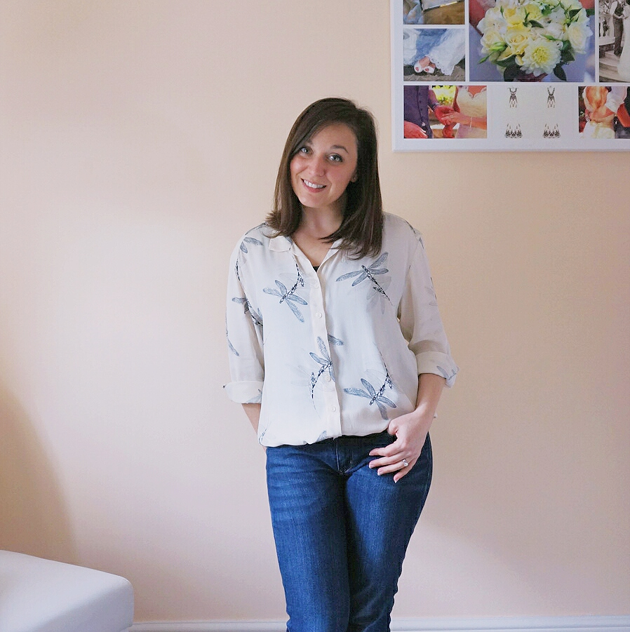 Alex shirt in dragonfly viscose crepe from Sew Over It My Capsule Wardrobe: City Break ebook