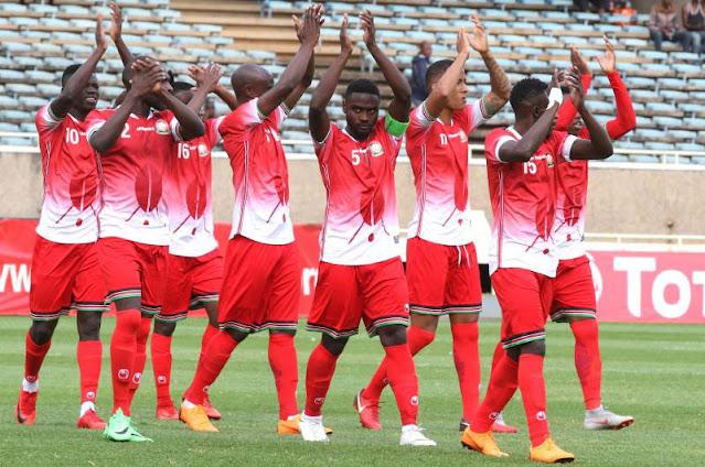 Kenyan team Harambee Stars  togo results