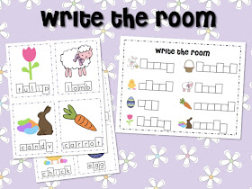 Easter Math & Literacy Centers and a FREEBIE!