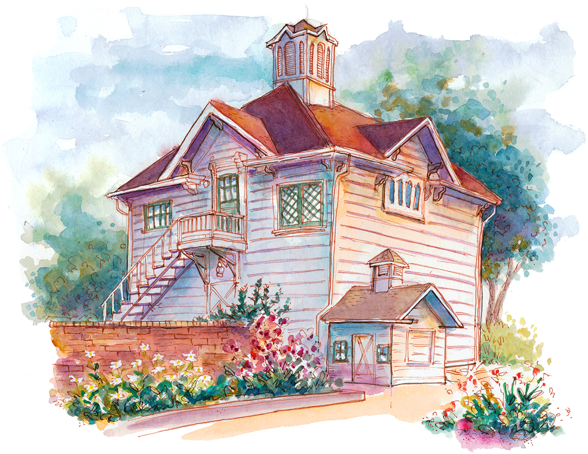Urban Sketchers S F Bay Area Luther Burbank Home And Gardens
