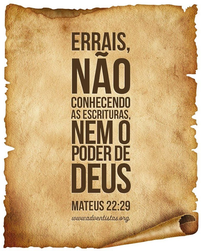 Palavra do Dia: errais, não conhecendo as escrituras, nem o poder de Deus