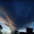 Nuvem 'gigante' é registrada no município de Chorrochó, no norte da Bahia