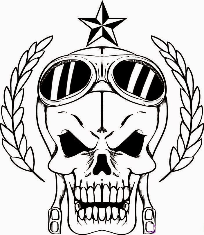 skull coloring pages to print - photo#3