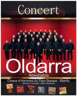 Oldarra - Coro de hombres del País Vasco. En Biarritz