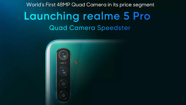 Realme 5 Pro and Realme 5 have been launched in India. In an event held in New Delhi, Reality screened with both of its phones equipped with four rear cameras. The price of Reality 5 starts at less than Rs 10,000.