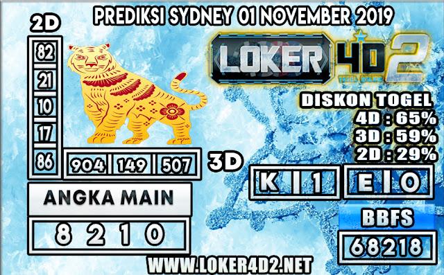 PREDIKSI TOGEL SYDNEY LOKER4D2 01 NOVEMBER 2019