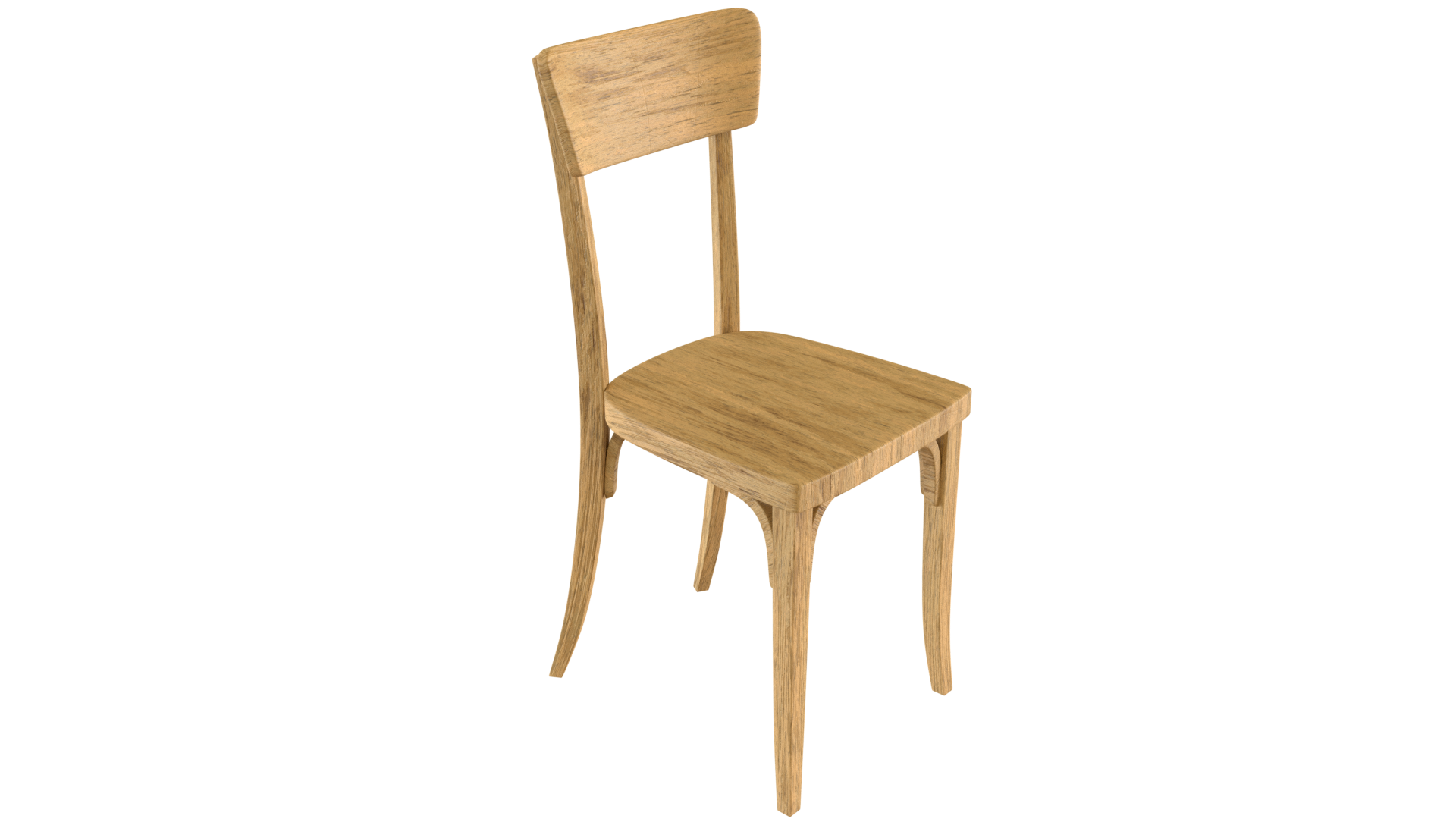 Free 3D Wood Chair CC0 3DS - Free 3D Models Under Public Domain