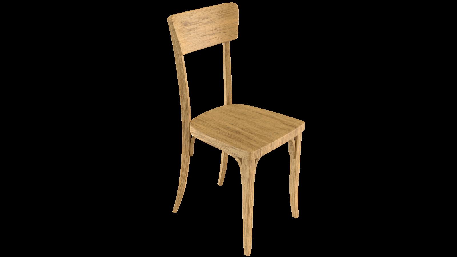 Free 3D Wood Chair CC0 3DS - Free 3D Models Under Public Domain