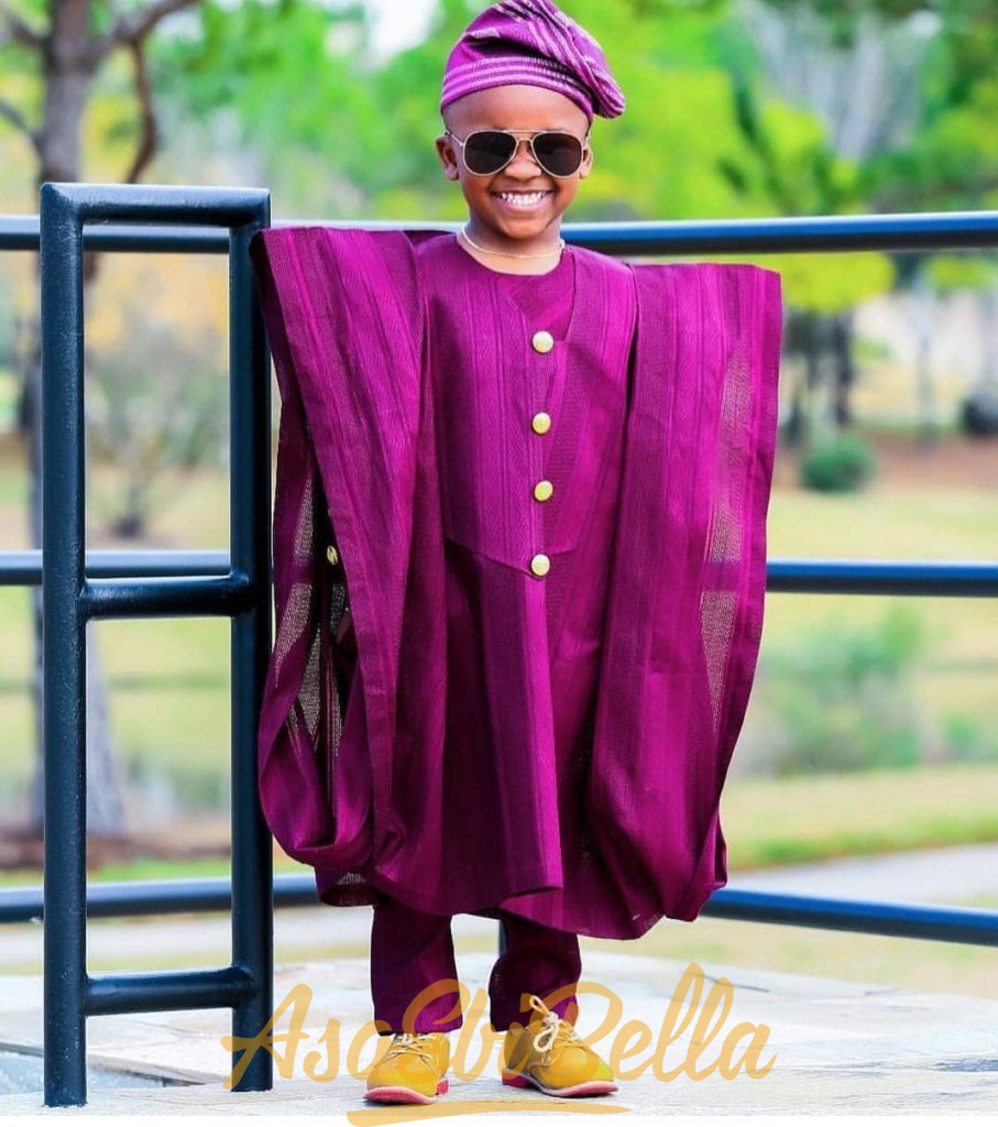 #EbFabLook Vol 42A Kids: Try This New Aso-Ebi Style Worn From 1th To 10th January 2019