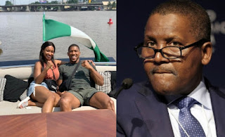 Anthony Joshua and his sister hosted by Dangote in his ₦15.5Billion luxury yacht (Photos)