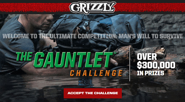 Grizzly Chewing Tobacco wants you to try your chances every day to win instant win prizes. They're even giving away $10,000 in GOLD!