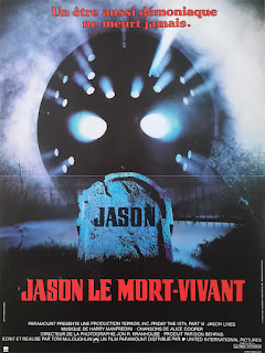 affiche du film d'horreur VENDREDI 13 : JASON LE MORT-VIVANT (FRIDAY THE 13TH PART VI JASON LIVES)
