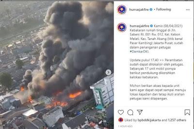 pasar tanah abang kebakaran