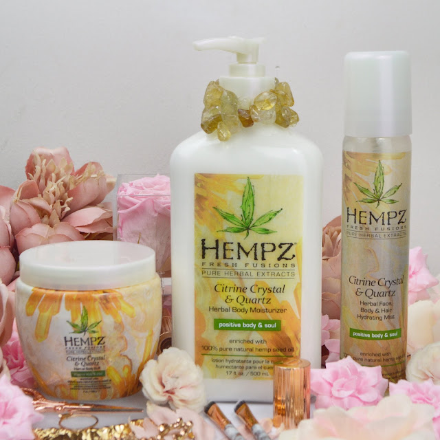 The Hempz SS19 Citrine Crystal & Quartz Collection, Lovelaughslipstick Blog Review