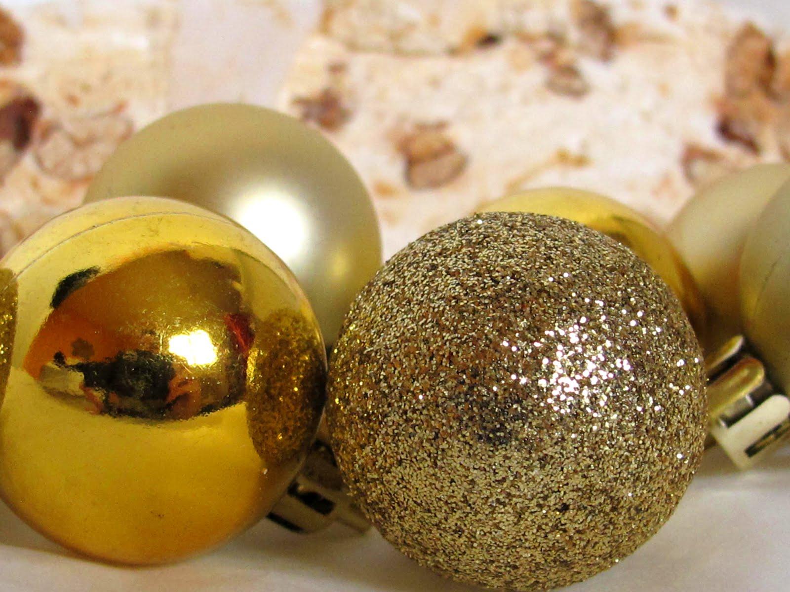 boules de noël dorée